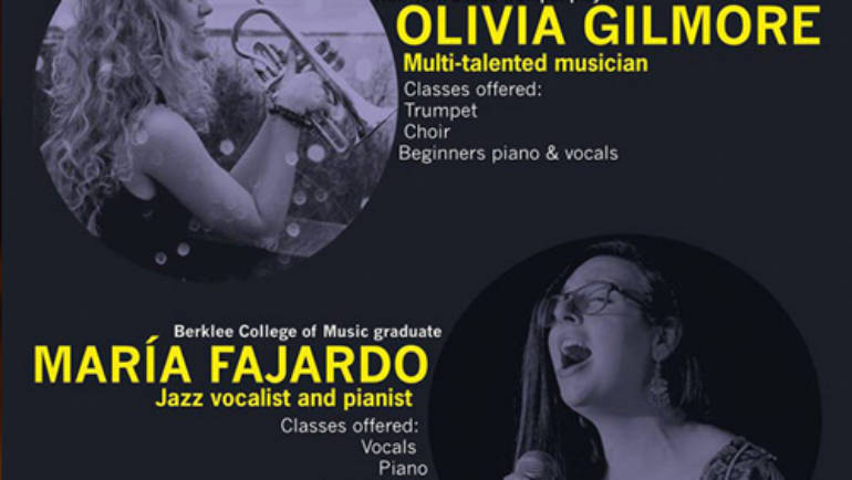 Our new visiting faculty:  Olivia and María